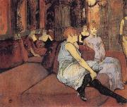 Interior in the Rue des Moulins Henri de toulouse-lautrec